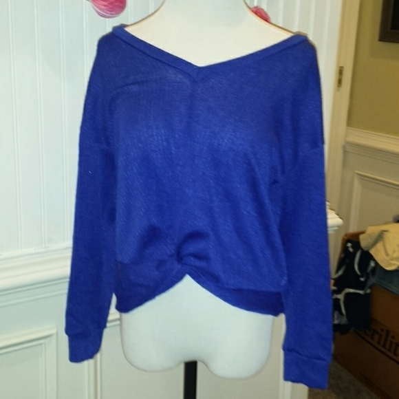 Lush Sweaters - Woman's off the shoulder sweater